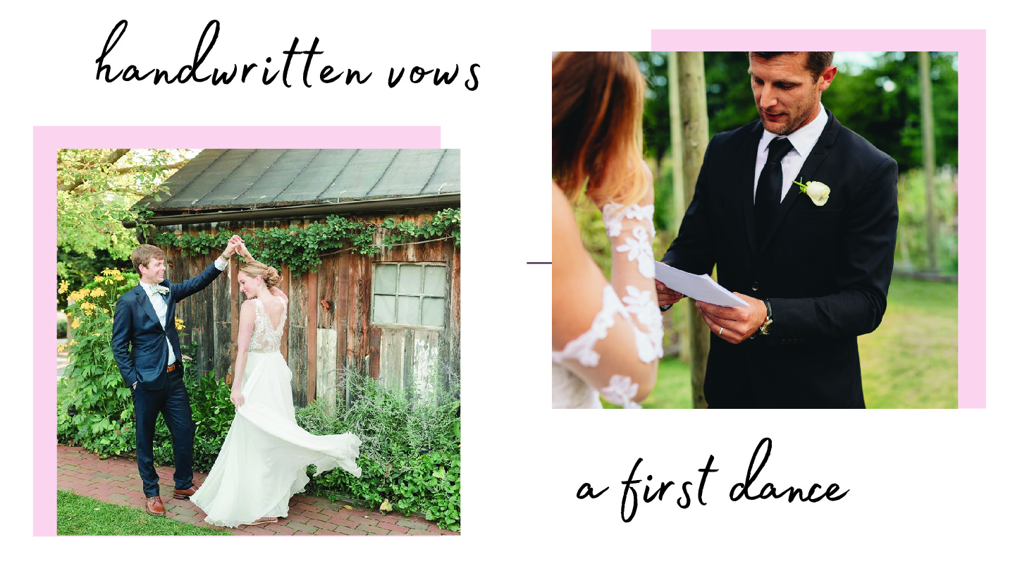 handwritten vows - a first dance